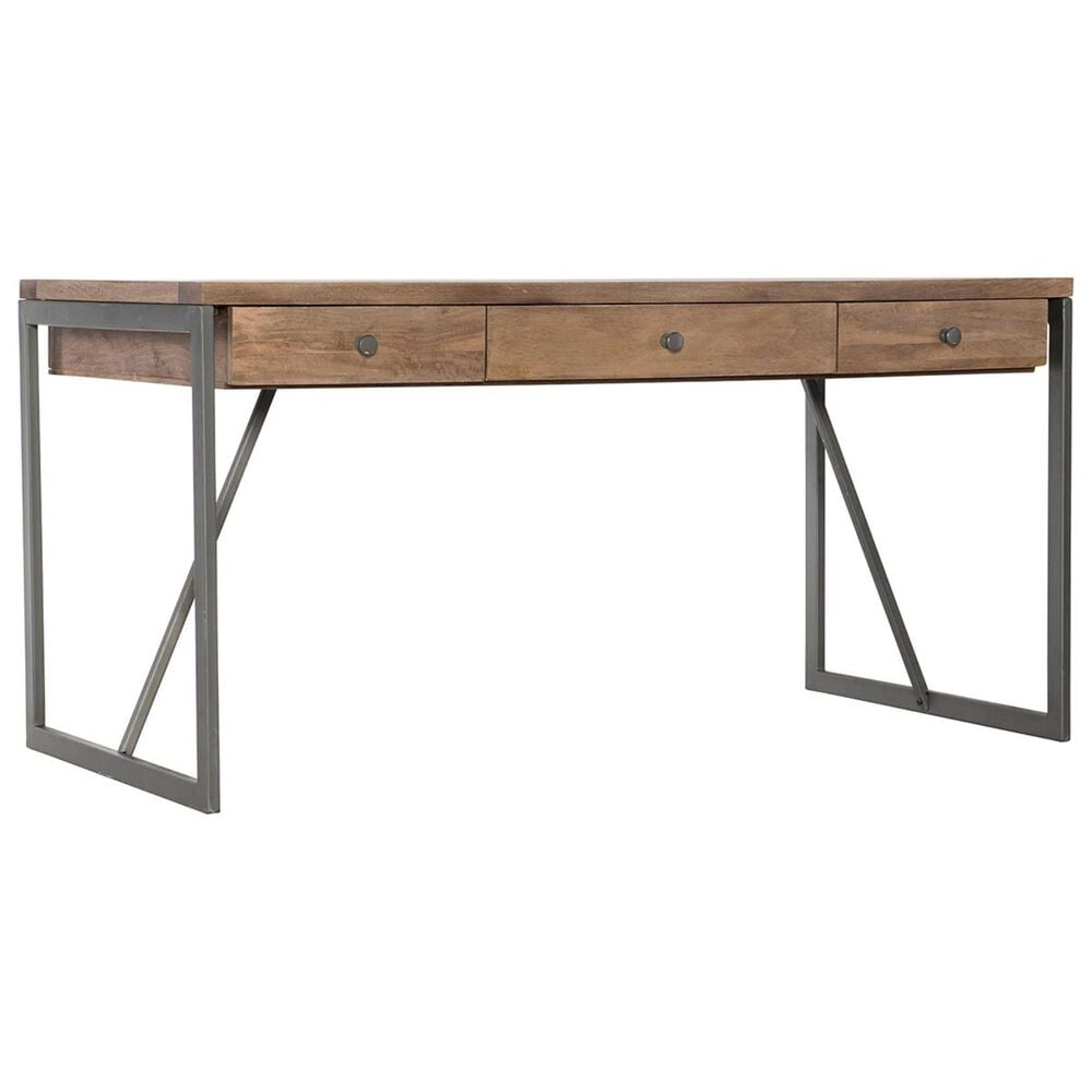 Hooker Furniture Writing Desk in Medium Wood and Gray, , large
