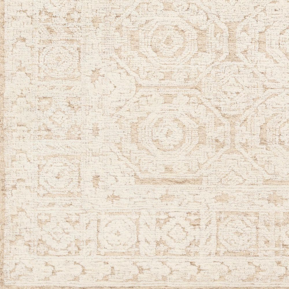 """Surya Louvre LOU-2301 2'6"""" x 8' Khaki and Cream Scatter Rug, , large"""