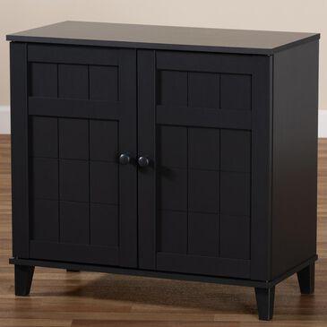 Baxton Studio Glidden 4-Shelf Shoe Storage Cabinet in Gray, , large