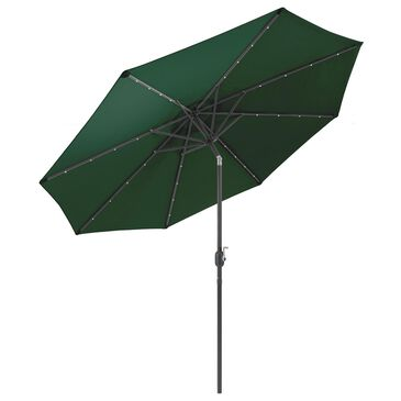 CorLiving Patio LED Umbrella in Dark Green, , large