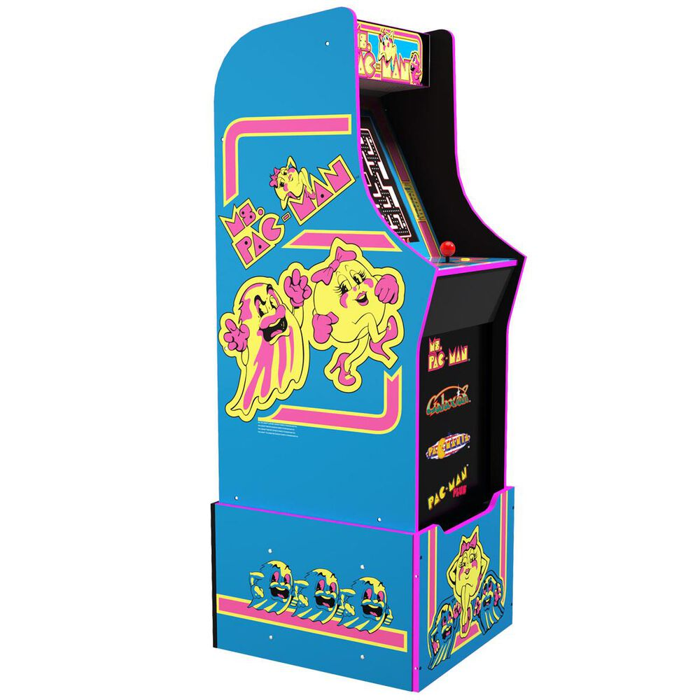 Arcade1up 4' Ms. Pac-Man Arcade Game with Riser, , large