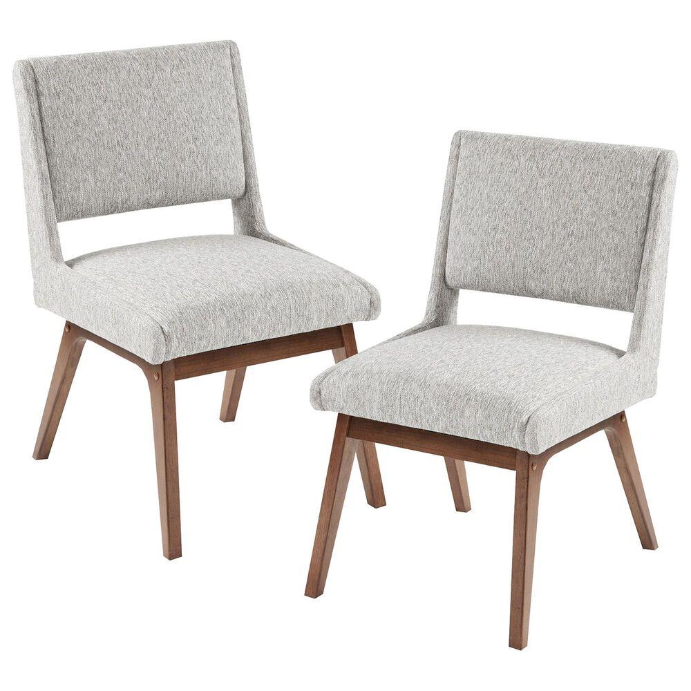 Hampton Park Boomerang Dining Chair in Light Grey (Set of 2), , large