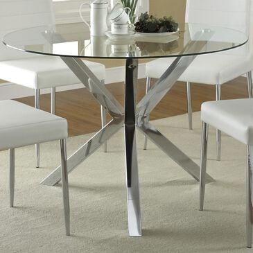 Pacific Landing Vance Dining Table in Chrome - Table Only, , large