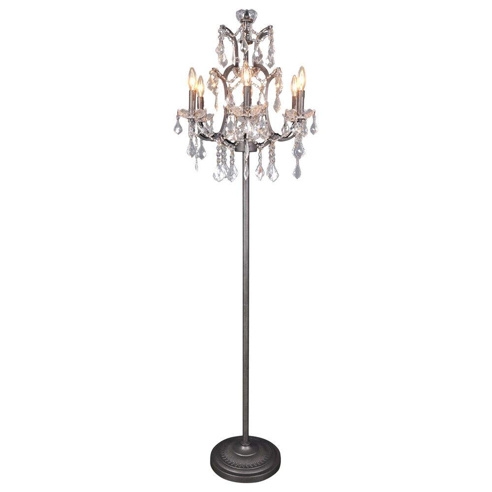 Moe's Home Collection Luis Floor Lamp in Clear, , large