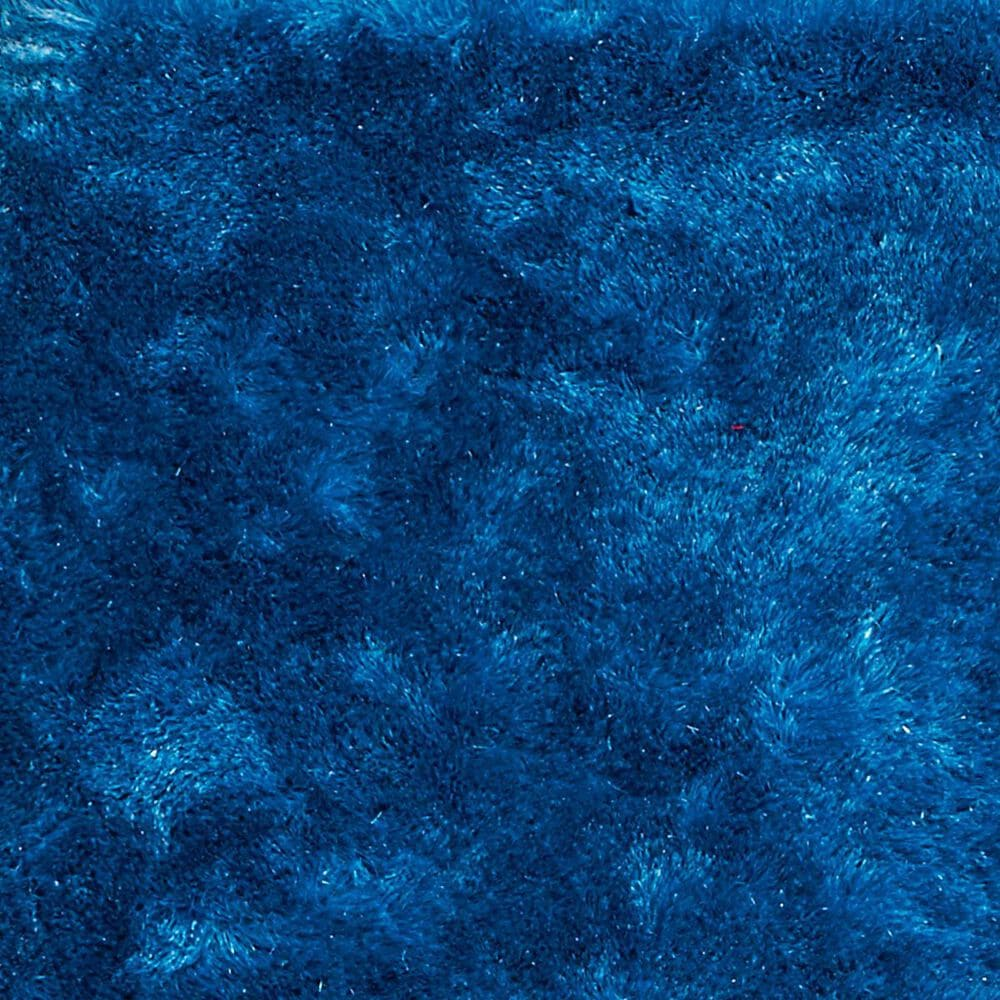 Nourison Glimmer Shag GLI01 5' x 7' Aqua Area Rug , , large