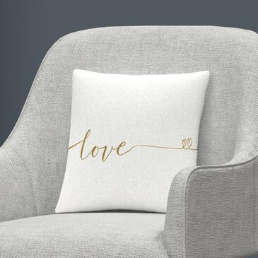Timberlake Veronique Charron 'Underlined Thoughts I' 16 x 16 Decorative Throw Pillow, , large