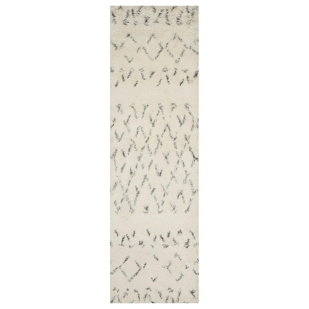 "Safavieh Casablanca CSB851B 2'3"" x 8' Ivory and Grey Runner, , large"