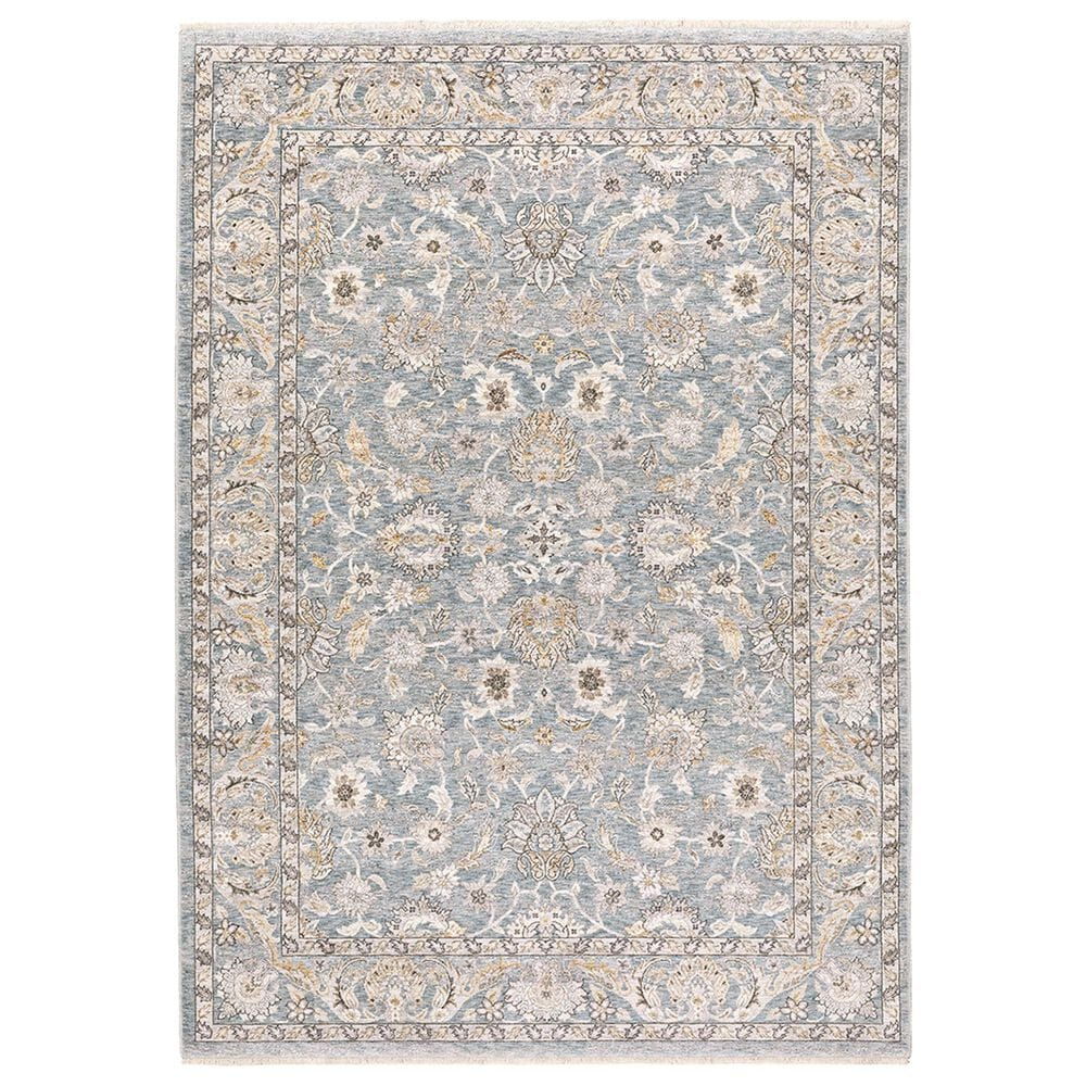 """Oriental Weavers Maharaja Nepal 70E 2"""" x 3"""" Blue and Ivory Scatter Rug, , large"""