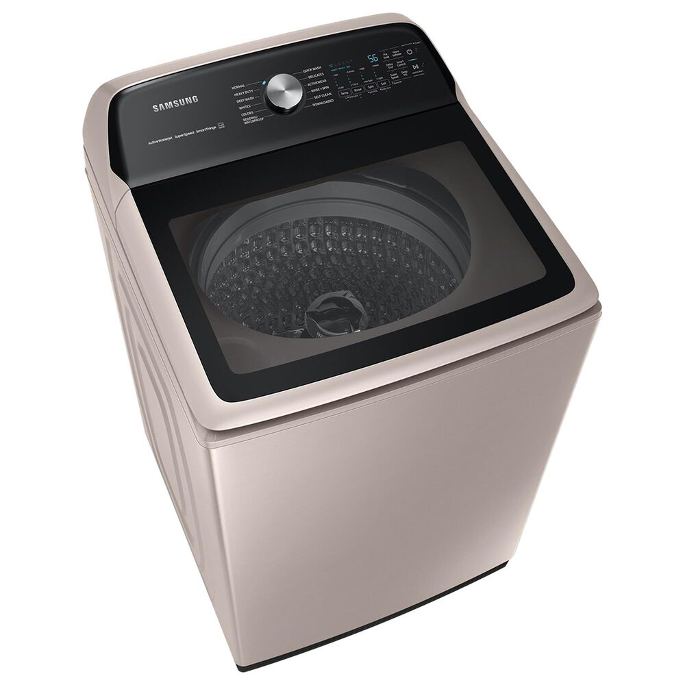 Samsung 5.2 Cu. Ft. Smart Top Load Impeller Washer and 7.4 Cu. Ft. Electric Dryer in Champagne, , large