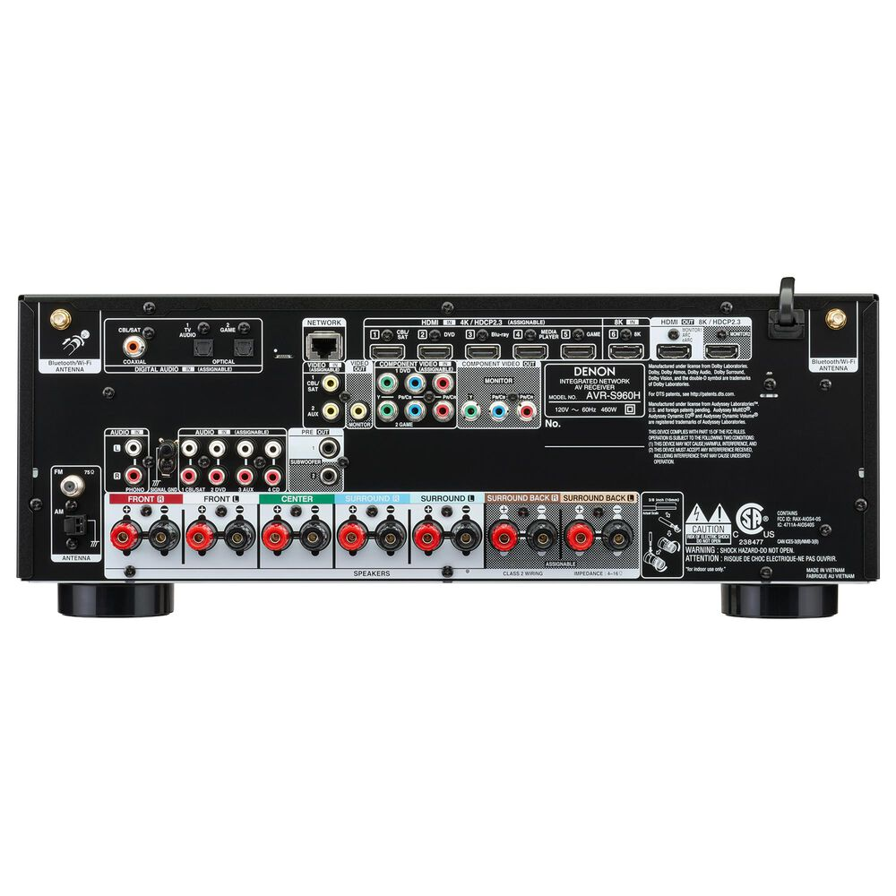 Denon 7.2 Channel 8K AV Receiver with 3D Audio, Voice Control and HEOS Built-In in Black, , large