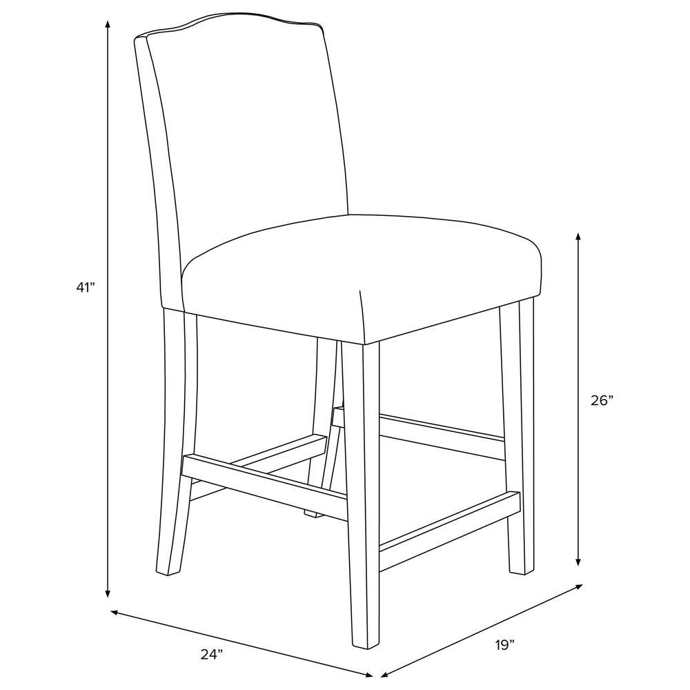 Skyline Furniture Counter Stool in Indian Blockprint Grey, , large