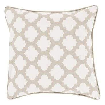 "Surya Inc Moroccan Printed Lattice 20"" x 20"" Polyester Fill Pillow in Ivory and Gray, , large"