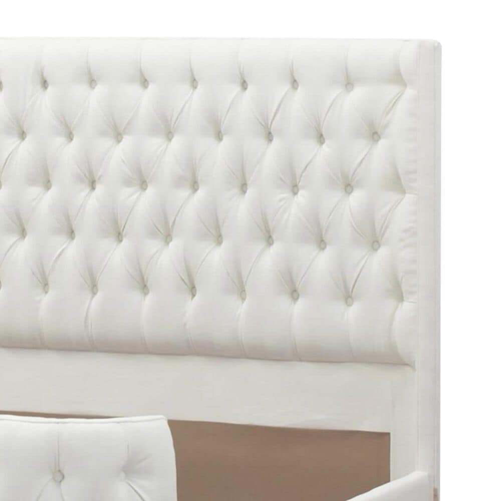 Jennifer Taylor Home Brooklyn Queen Tufted Bed in Antique White, , large