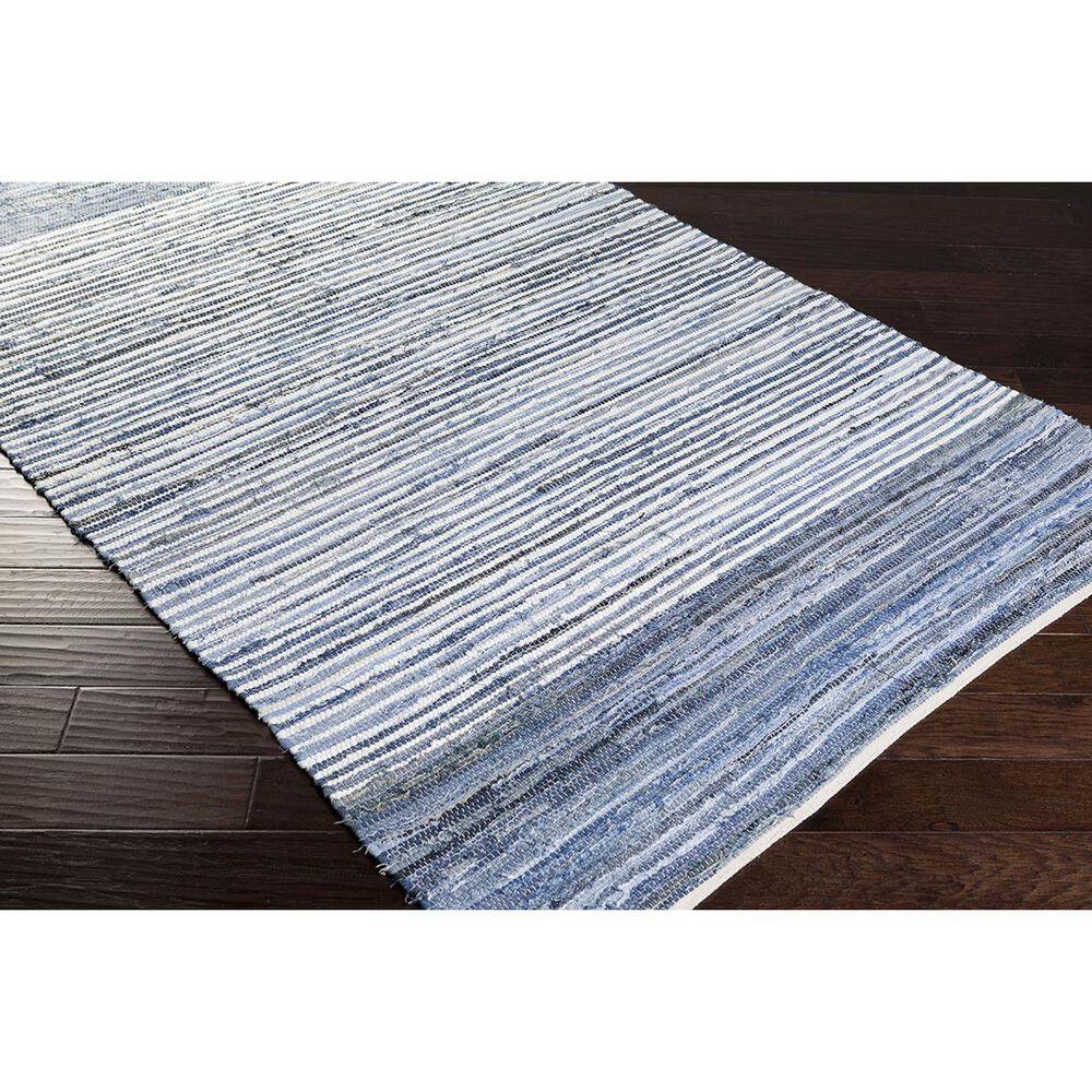 Surya Denim DNM-1001 2' x 3' Blue and Navy Scatter Rug, , large