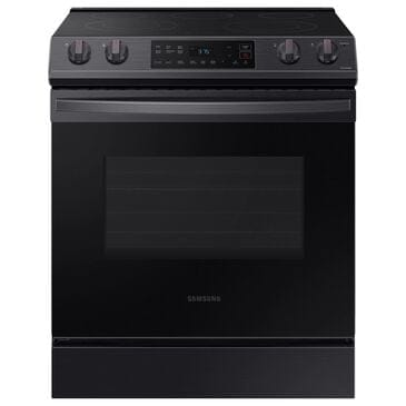 Samsung 6.3 Cu. Ft. Front Control Slide-in Electric Range with Wi-Fi in Black Stainless Steel, , large