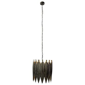 Mercana Sia 1-Light Pendant in Antiqued Blackened-Gold, , large