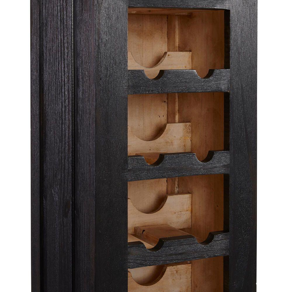 Tiddal Home Escala Wine Cabinet in Dark Gray/Natural, , large