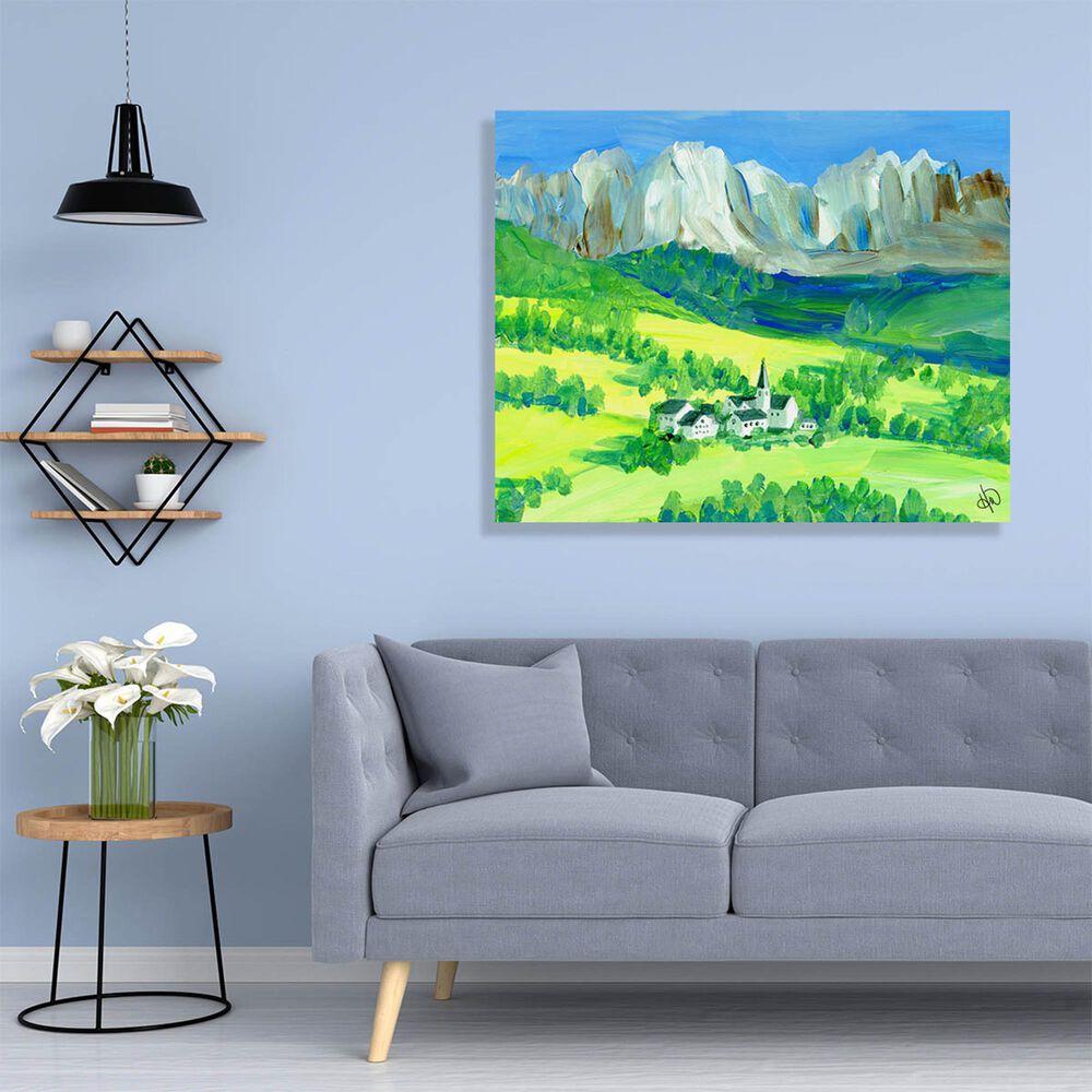 "Kathy Ireland Home ""Swiss Alps"" 20"" x 30"" Metal Wall Art Print, , large"