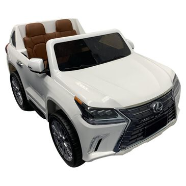 Best Ride On Cars Lexus 12v LX-570 in White with Leather Seats, , large