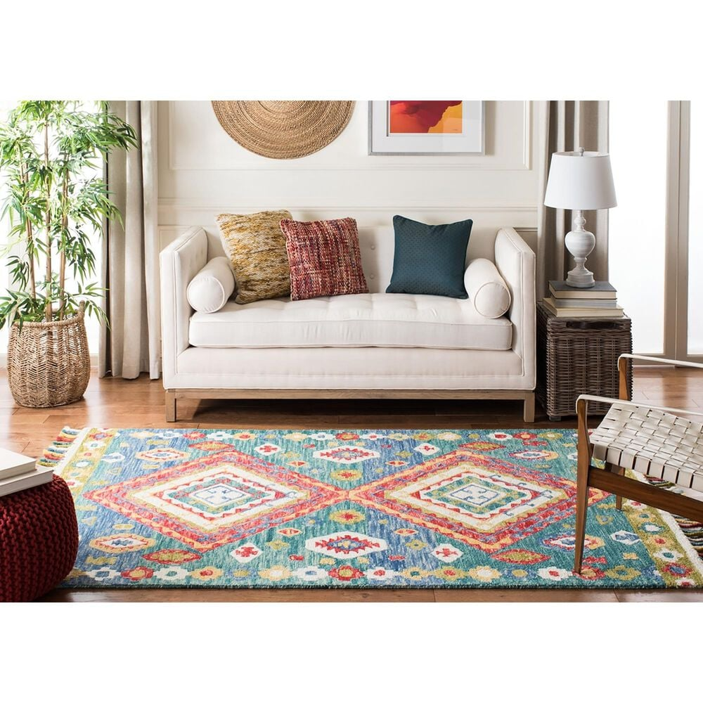 Safavieh Aspen 3' x 5' Green and Red Area Rug, , large