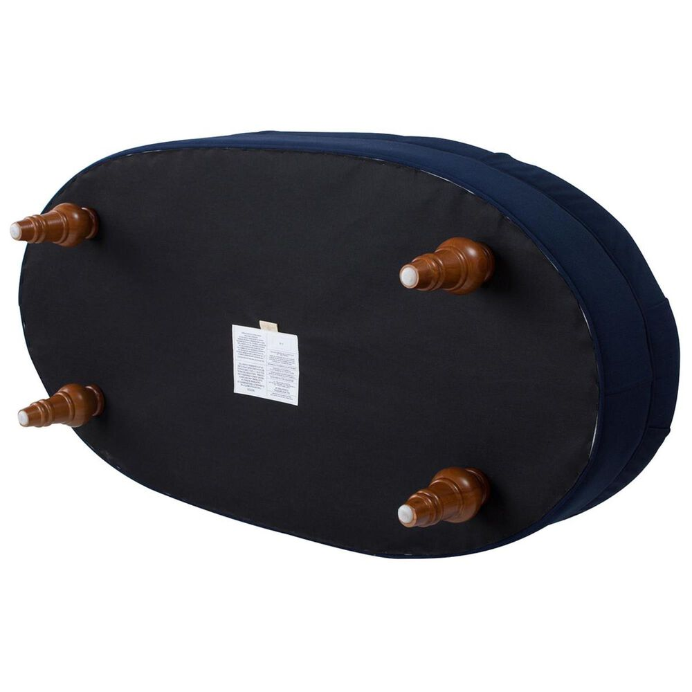 Jennifer Taylor Home Petra Tufted Oval Accent Bench in Midnight Blue, , large