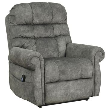 Signature Design by Ashley Mopton Power Lift Recliner in Steel, , large
