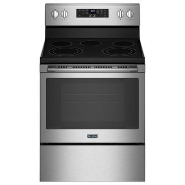 Maytag 5.3 Cu. Ft. Electric Range with Fan Convection in Fingerprint Resistant Stainless Steel, , large