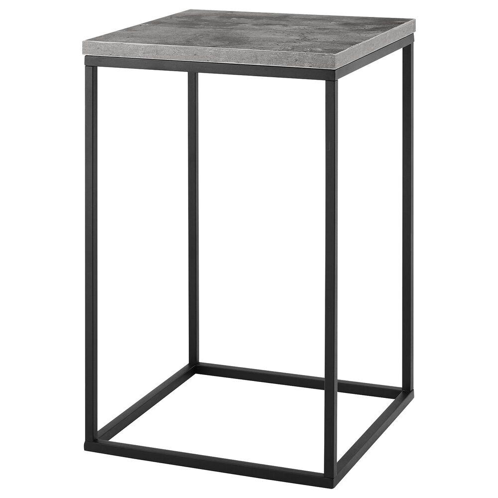 """Walker Edison Lowell 16"""" Side Table in Dark Concrete, , large"""