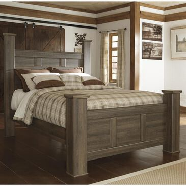 Signature Design by Ashley Juararo Queen Bed in Dark Brown, , large