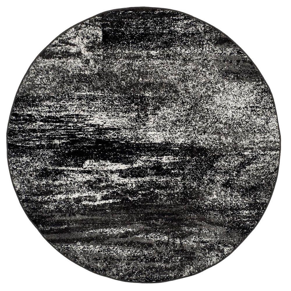 Safavieh Adirondack ADR112A 6' Round Silver and Black Area Rug, , large