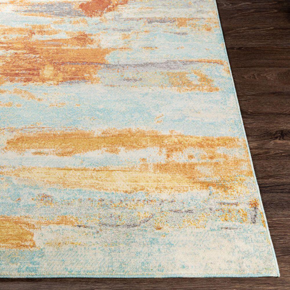"Surya Bodrum 8'10"" x 12' Ivory, Orange, Saffron, Gray, Camel and Blue Area Rug, , large"