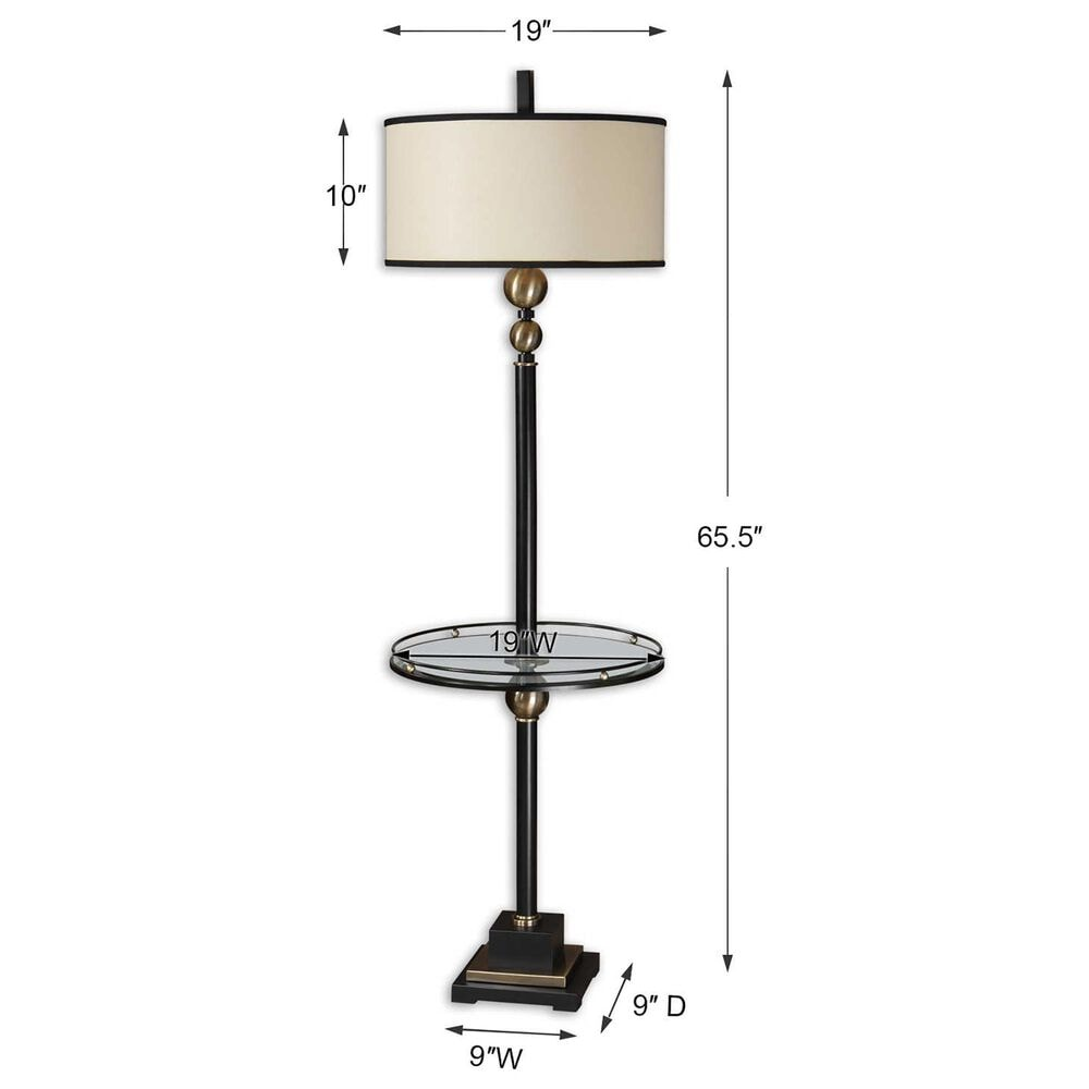 Uttermost Revolution End Table Floor Lamp, , large