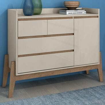 Dayton Essence 4 Drawer Wide Dresser in Off White, , large
