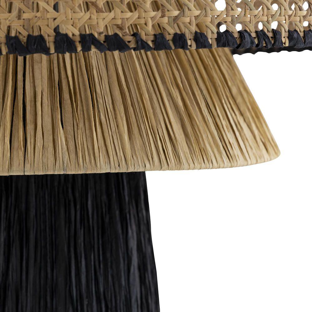 Tov Furniture Rylie Pendant in Black/Natural, , large