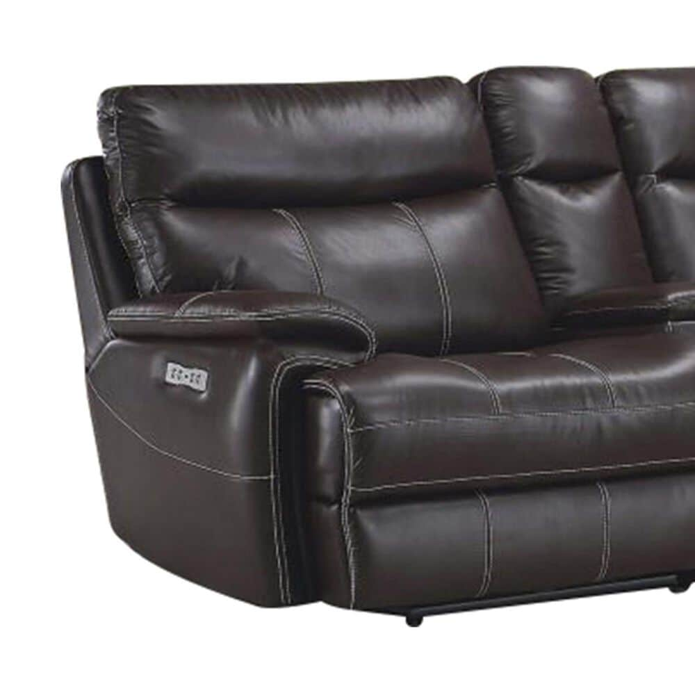 Simeon Collection Dylan 6-Piece Manual Reclining Sectional in Mahogany, , large