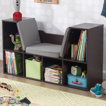 Kidkraft Bookcase with Reading Nook in Espresso, , large