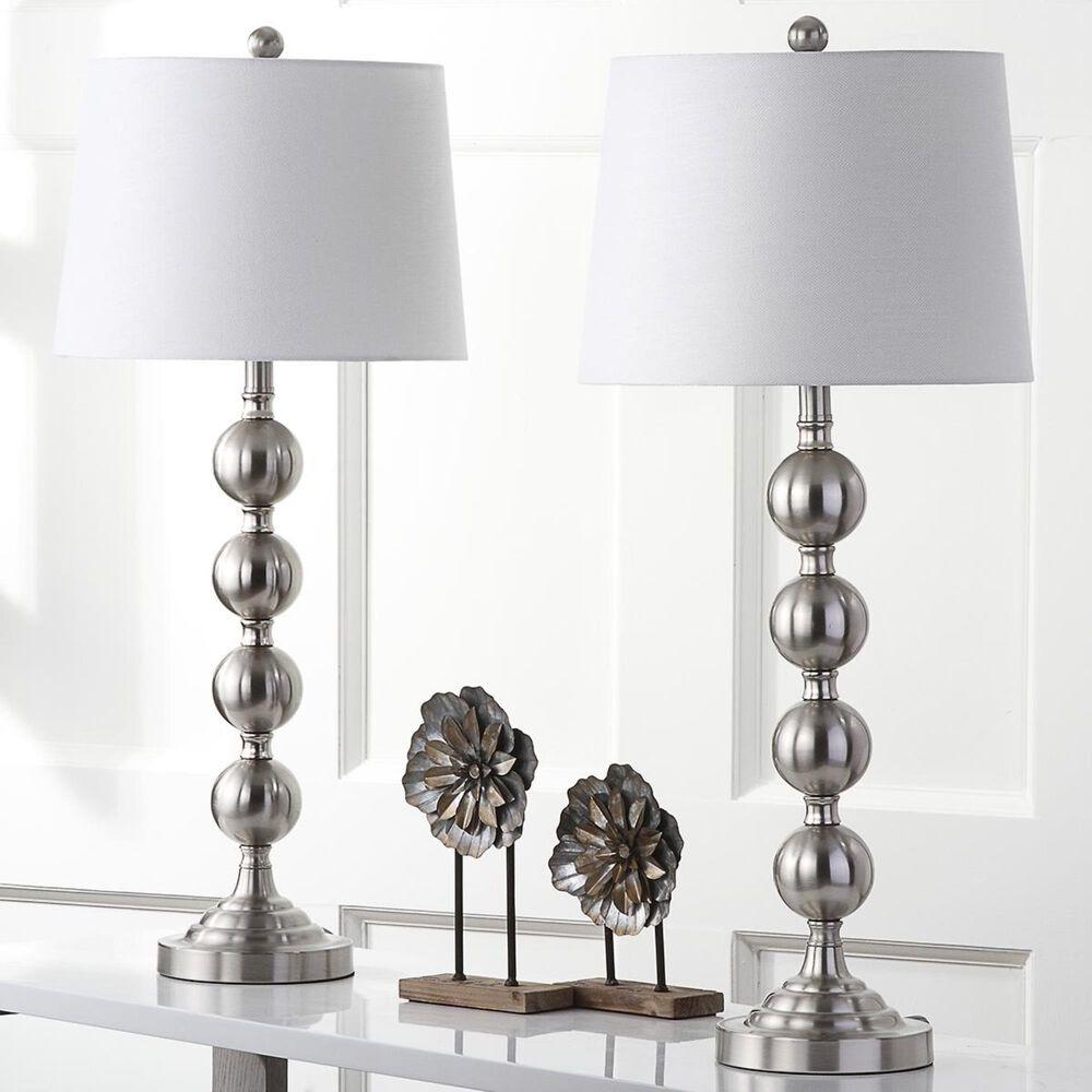 "Safavieh 32.5"" Gazing Ball Table Lamp in Nickel (Set of 2), , large"