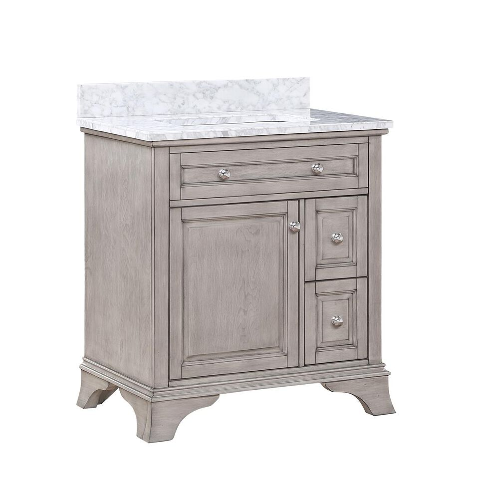 """Aurafina Wainwright 30"""" Vanity with Top and Sink in Old Harbor Gray, , large"""