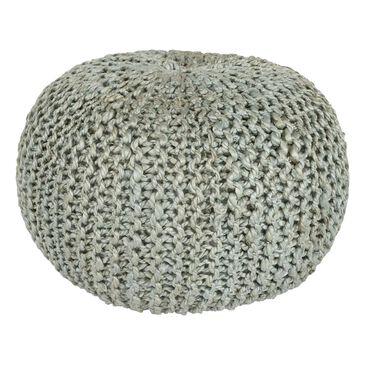 Surya Inc Bermuda Sphere Pouf in Light Gray, , large