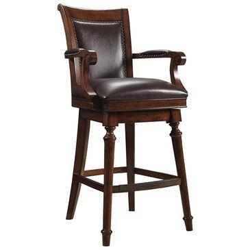 Hooker Furniture Merlot Swivel Barstool in Warm Chestnut, , large