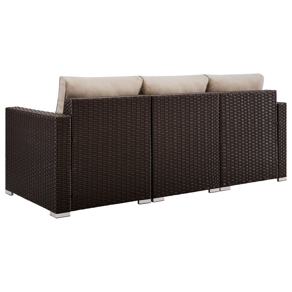 Accentric Approach Patio Sofa in Brown, , large