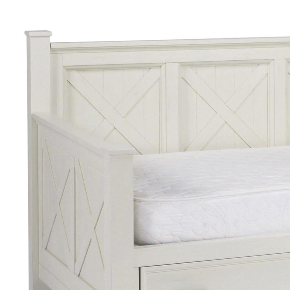 Home Styles Seaside Lodge Daybed with Storage in Hand Rubbed White , , large
