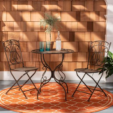 Safavieh Semly 3-Piece Bistro Set in Unearthed Rust, , large