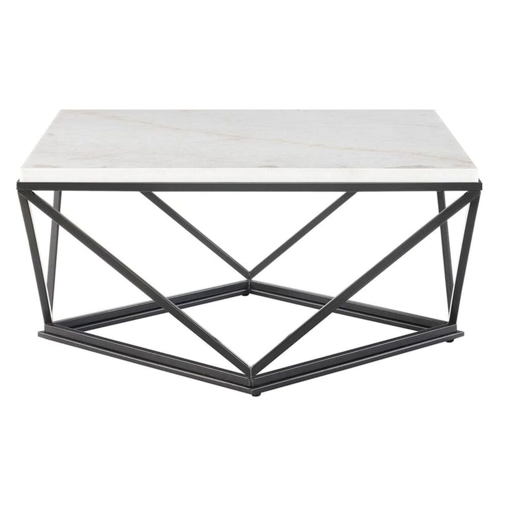 Mayberry Hill Riko Coffee Table in Sea Shell and Gunmetal, , large