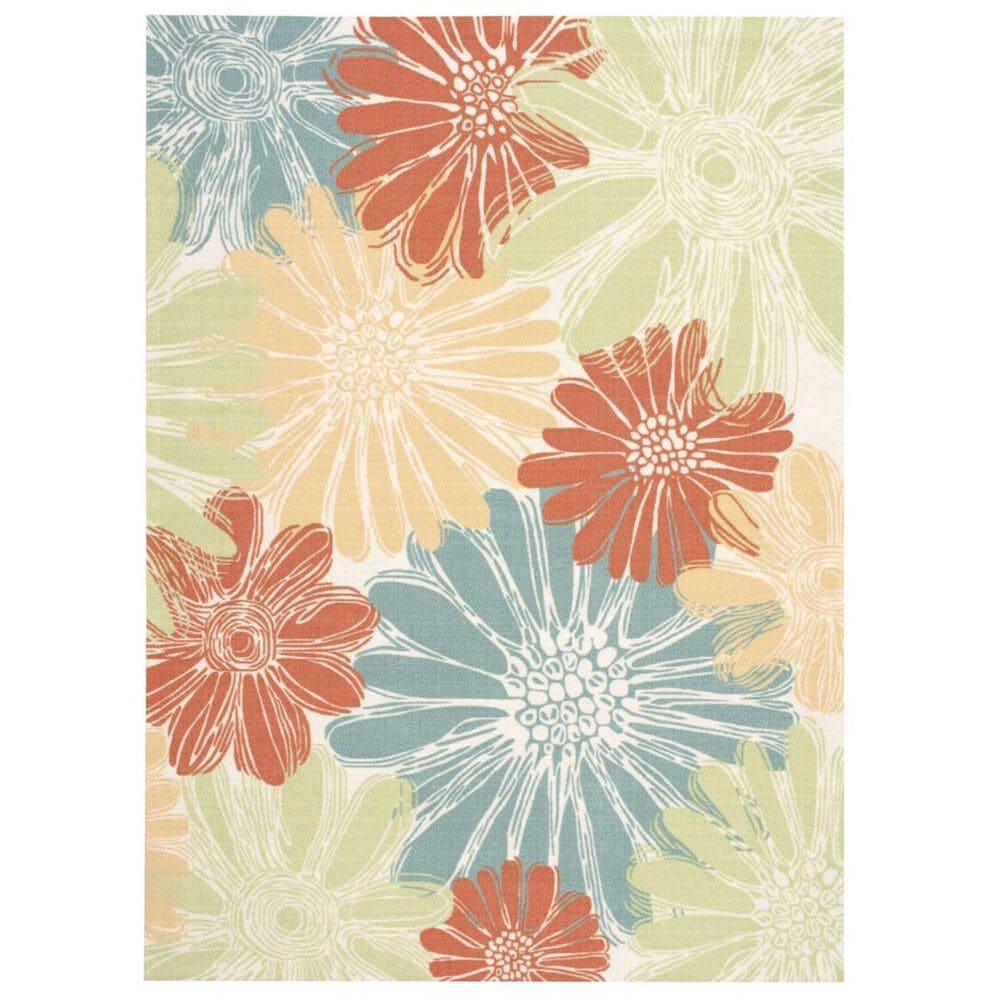 """Nourison Home and Garden RS022 7'9"""" x 10'10"""" Ivory Area Rug, , large"""