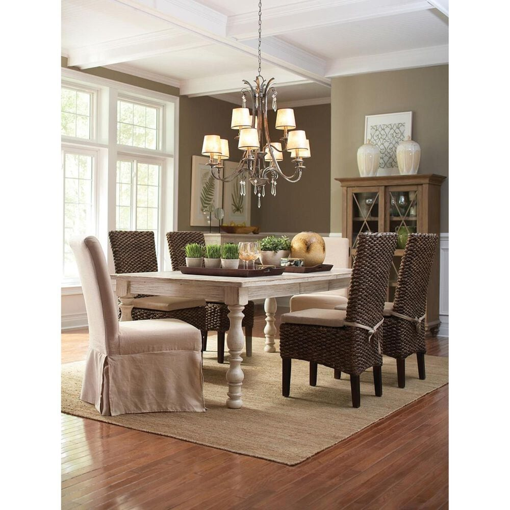 Shannon Hills Aberdeen Rectangle Dining Table in Weathered Worn White - Table Only, , large
