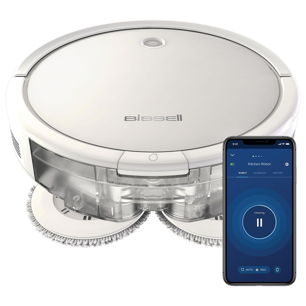 Bissell SpinWave Robotic Vacuum in Pearl White, , large