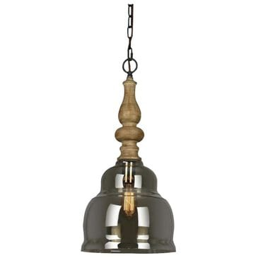 Southern Lighting Brent 1-Light Pendant in Bleached Wood, , large
