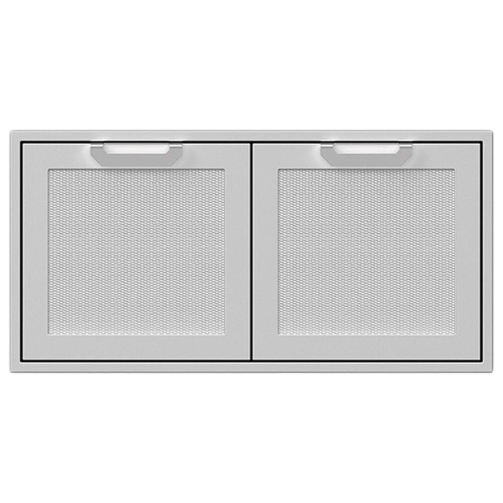 "Hestan 42"" Double Storage Doors in Stainless Steel, , large"