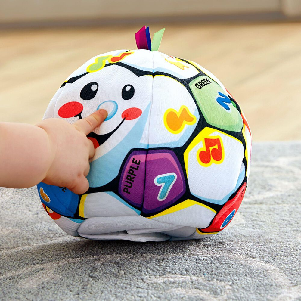 Fisher-Price Laugh and Learn Singing Soccer Ball, , large